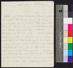Digital surrogate of Lovell Edgeworth to Mrs Edgeworth from London -…
