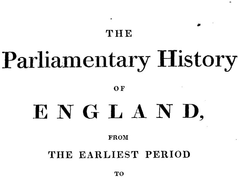 Cobbett's Parliamentary History