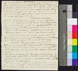 Digital surrogate of To Mrs Edgeworth - fragment , Letters, 187