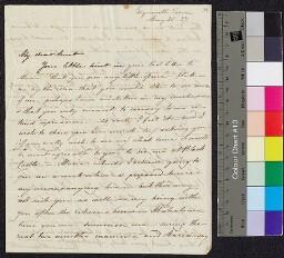 Digital surrogate of Fanny Edgeworth to Mrs Ruxton from Edgeworthstown…