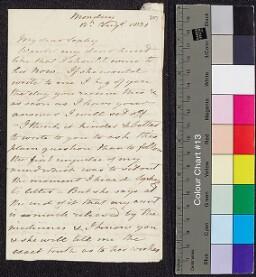 Digital surrogate of To Sophy Ruxton - end by FE (?Fanny Edgeworth)
