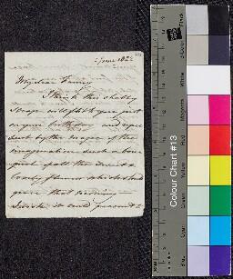 Digital surrogate of Mrs Edgeworth to Fanny Edgeworth - birthday letter