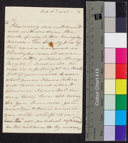 Digital surrogate of To Mrs Ruxton - present of a vandyked apron -…